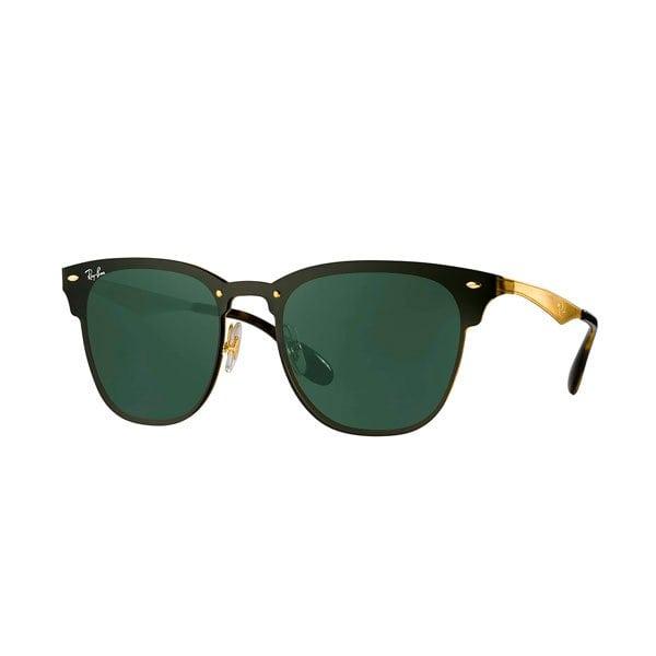 Óculos de Sol Ray Ban Blaze Clubmaster RB3576N (Ouro/Verde Clássico)