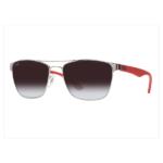 Óculos Ray-Ban RB3520L 56 - Prata e Vermelho - 003/8G