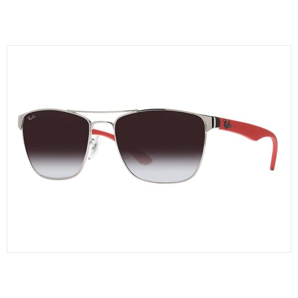 Óculos Ray-Ban RB3520L 56 – Prata e Vermelho – 003/8G