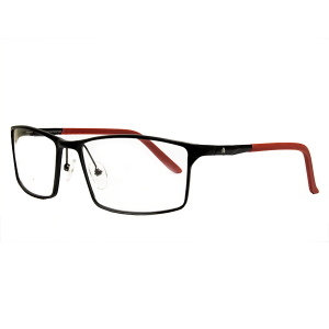 KS REC MASCULINO 3778 METAL ARO M.BLACK/RED TM- 59