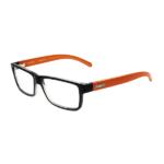Armação de Óculos de Grau SECRET Preto-Laranja M80 018 C493