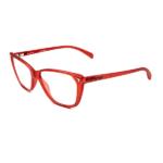 Armação de Óculos de Grau SECRET Vermelho Translúcido