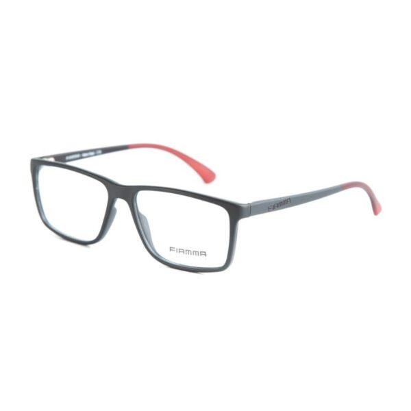 Armação de Óculos FIAMMA Preto e Vermelho 41002-52-2826