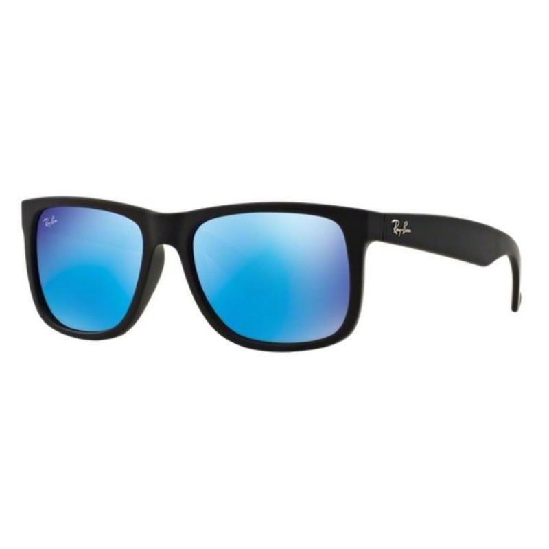 Óculos de Sol Ray Ban Justin RB4165L 622/55 Lente Azul Espelhada